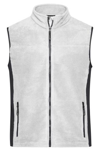 Mens Workwear Fleece Vest - STRONG - white/carbon