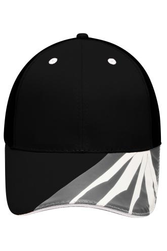 6 Panel Craftsmen Cap - STRONG - black/carbon/white