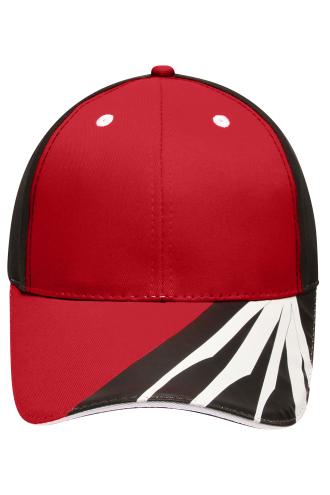 6 Panel Craftsmen Cap - STRONG - red/black/white