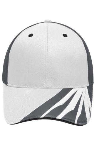 6 Panel Craftsmen Cap - STRONG - white/carbon/black