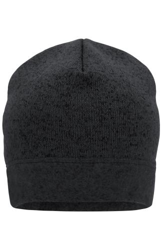 Knitted Fleece Workwear Beanie - STRONG - carbon-melange/black