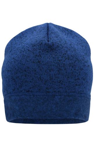 Knitted Fleece Workwear Beanie - STRONG - royal-melange/navy