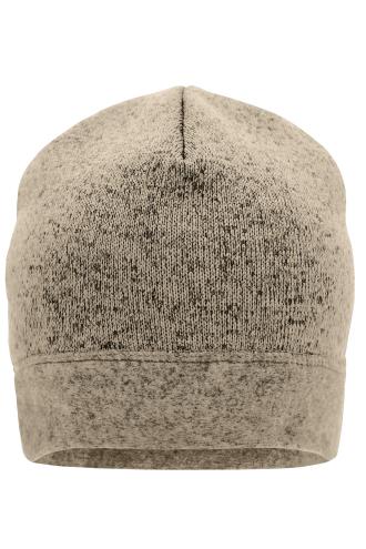 Knitted Fleece Workwear Beanie - STRONG - stone-melange/black