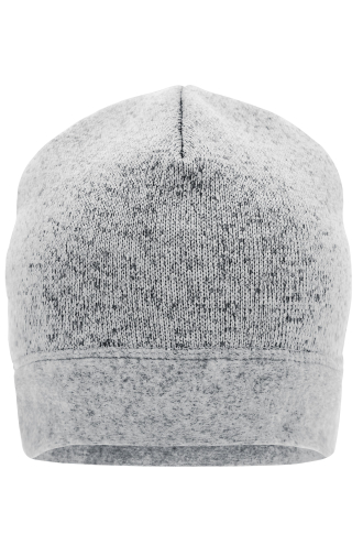Knitted Fleece Workwear Beanie - STRONG - white-melange/carbon