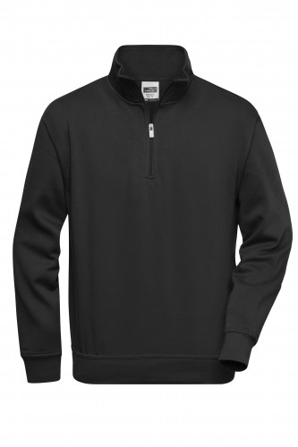Workwear Half Zip Sweat - black