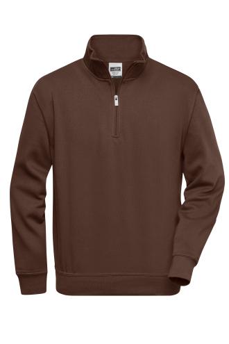 Workwear Half Zip Sweat - brown