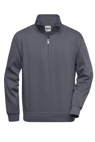 Workwear Half Zip Sweat - carbon