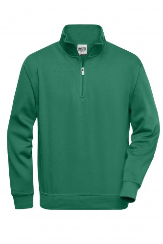 Workwear Half Zip Sweat - dark-green