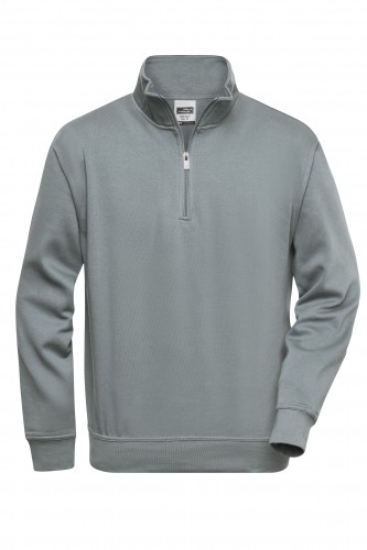Workwear Half Zip Sweat - dark-grey