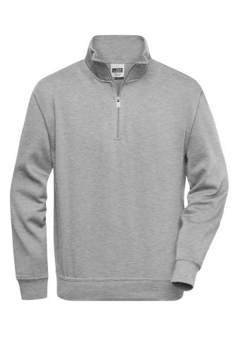 Workwear Half Zip Sweat - grey-heather