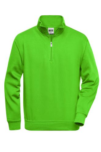 Workwear Half Zip Sweat - lime-green