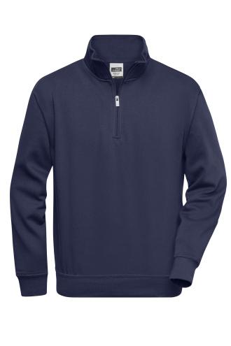 Workwear Half Zip Sweat - navy
