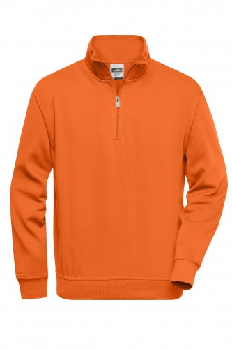 Workwear Half Zip Sweat - orange