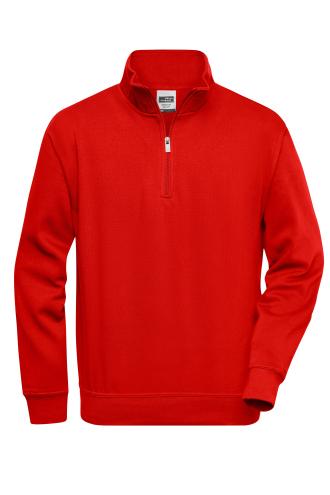 Workwear Half Zip Sweat - red