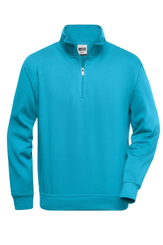 Workwear Half Zip Sweat - turquoise
