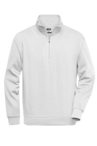 Workwear Half Zip Sweat - white