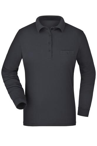 Ladies Workwear Polo Pocket Longsleeve - carbon
