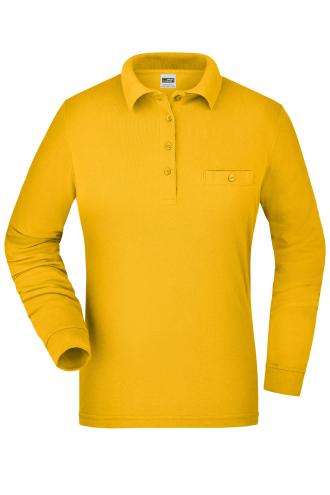 Ladies Workwear Polo Pocket Longsleeve - gold-yellow
