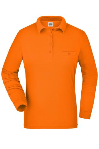 Ladies Workwear Polo Pocket Longsleeve - orange