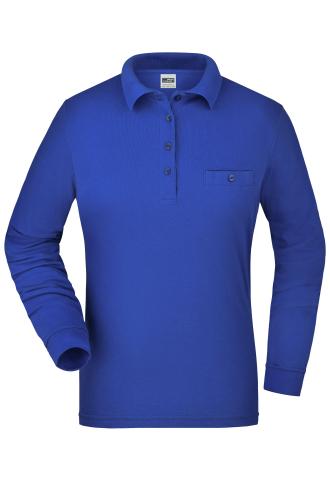 Ladies Workwear Polo Pocket Longsleeve - royal