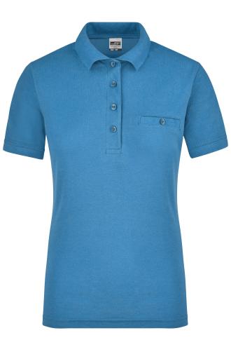 Ladies Workwear Polo Pocket - aqua