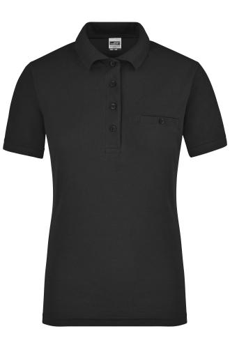 Ladies Workwear Polo Pocket - black