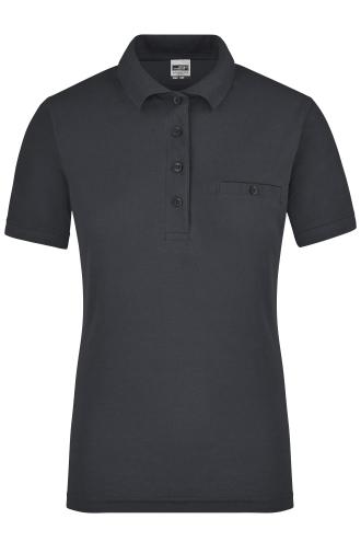 Ladies Workwear Polo Pocket - carbon