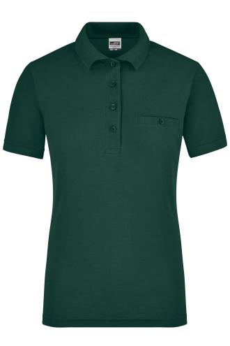 Ladies Workwear Polo Pocket - dark-green