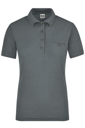Ladies Workwear Polo Pocket - dark-grey