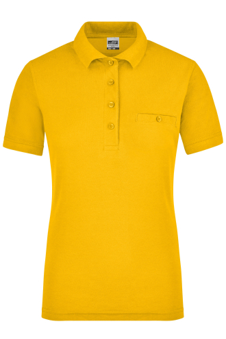 Ladies Workwear Polo Pocket - gold-yellow