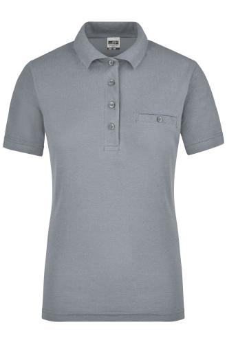 Ladies Workwear Polo Pocket - grey-heather