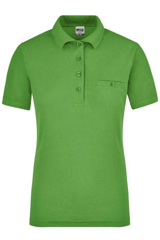 Ladies Workwear Polo Pocket - lime-green