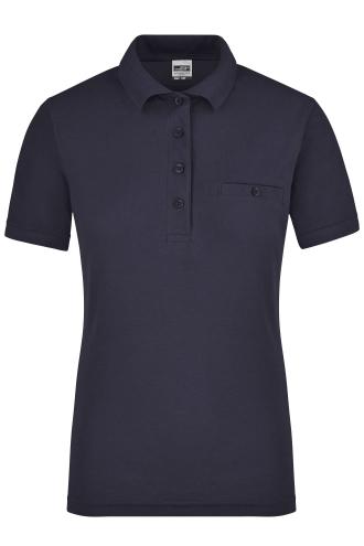 Ladies Workwear Polo Pocket - navy