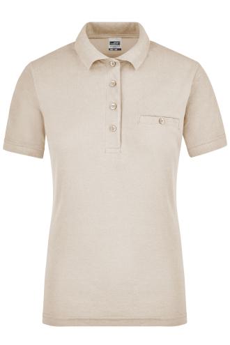 Ladies Workwear Polo Pocket - stone