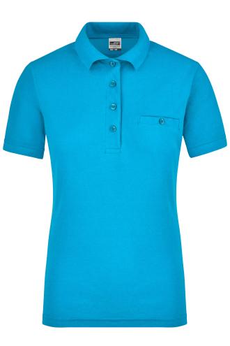 Ladies Workwear Polo Pocket - turquoise
