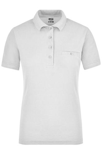Ladies Workwear Polo Pocket - white