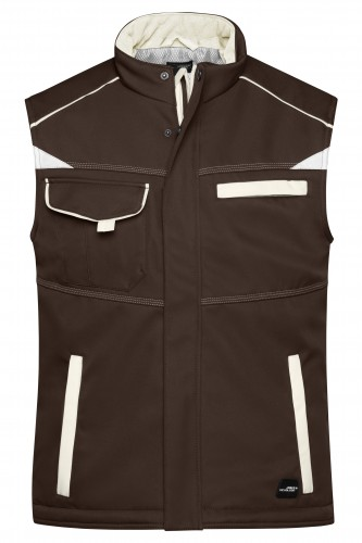 Workwear Softshell Padded Vest - COLOR - brown/stone