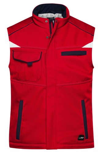 Workwear Softshell Padded Vest - COLOR - red/navy