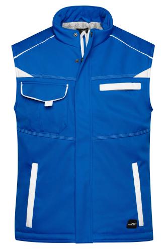 Workwear Softshell Padded Vest - COLOR - royal/white