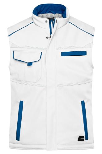 Workwear Softshell Padded Vest - COLOR - white/royal