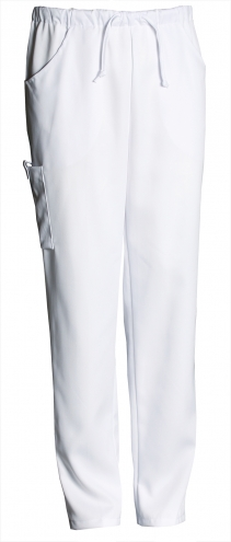 CHARISMA PREMIUM Unisex-Hose mit Gummizug im Bund - weiß