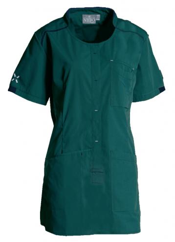 SPORTY Damen-Schlupfkasack - dunkelgrün