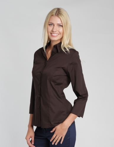 Damen Bluse Ferrara - chocolate