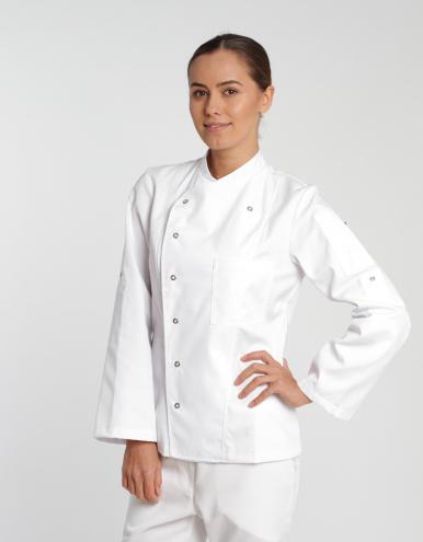 Damen Kochjacke Turin Classic - weiß