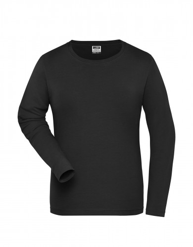 Ladies BIO Stretch-Longsleeve Work - SOLID -