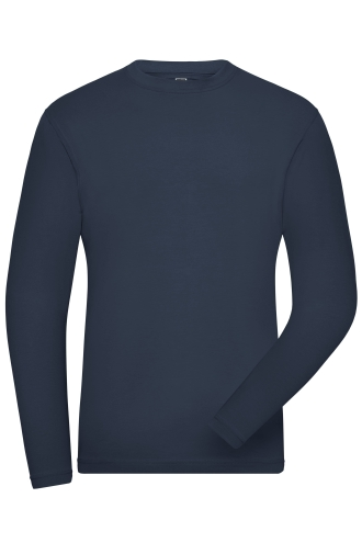 Mens BIO Stretch-Longsleeve Work - SOLID -